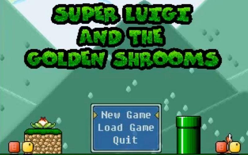 super luigi and the golden shrooms igrica