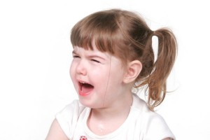 djevojčica plače